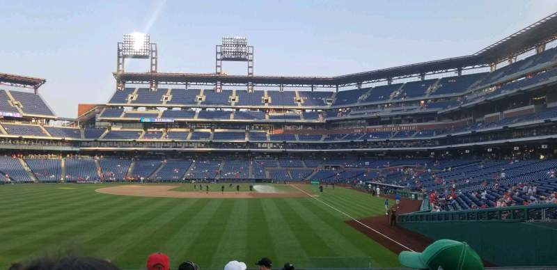 Seating view for Citizens Bank Park Section 142 Row 10 Seat 3