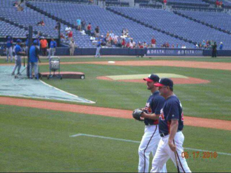 Seating view for Turner Field Section 113 Row 9 Seat 5