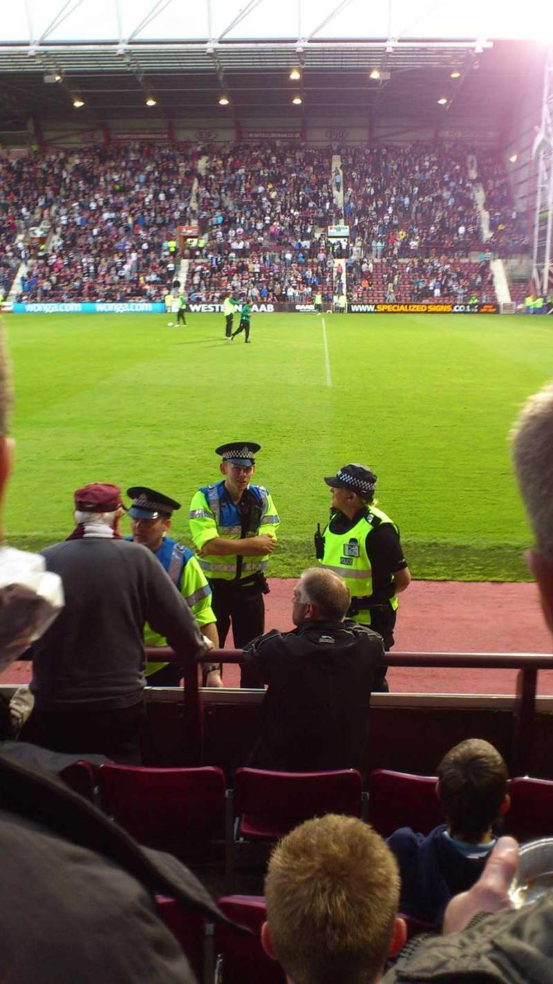 Seating view for Tynecastle Stadium Section n Row e Seat 6