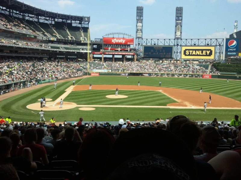 Seating view for Guaranteed Rate Field Section 127 Row 37 Seat 3