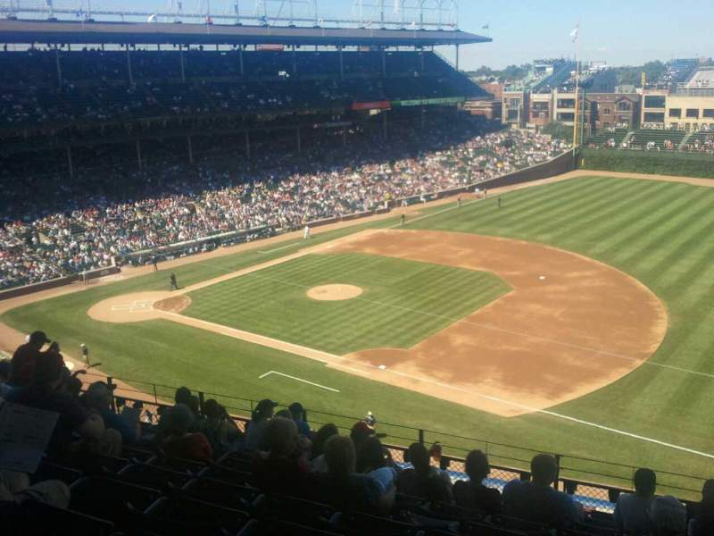 Seating view for Wrigley Field Section 433 Row  10 Seat  105