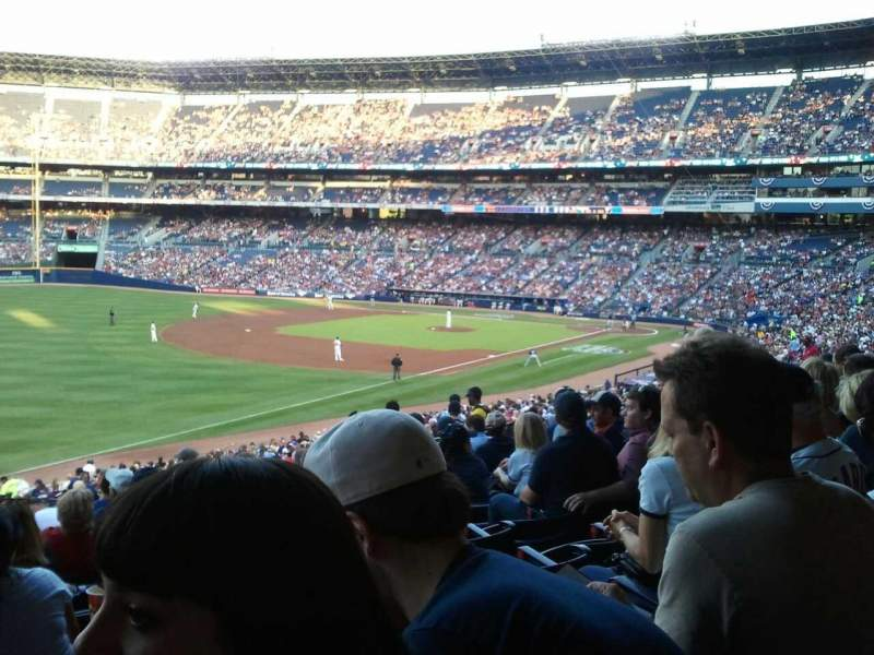 Seating view for Turner Field Section 224 Row 11 Seat 10