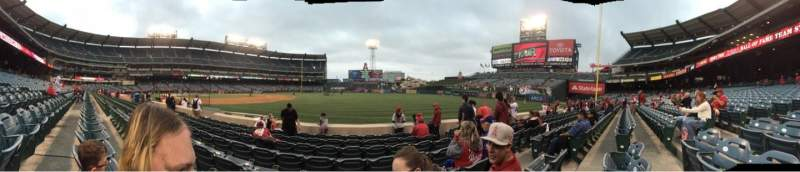 Seating view for Angel Stadium Section F128 Row g Seat 13