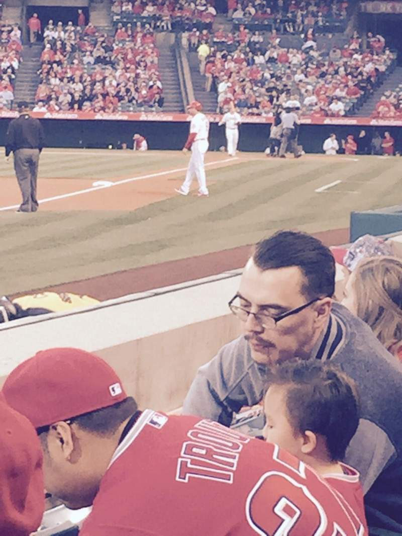 Seating view for Angel Stadium Section f106 Row c Seat 14