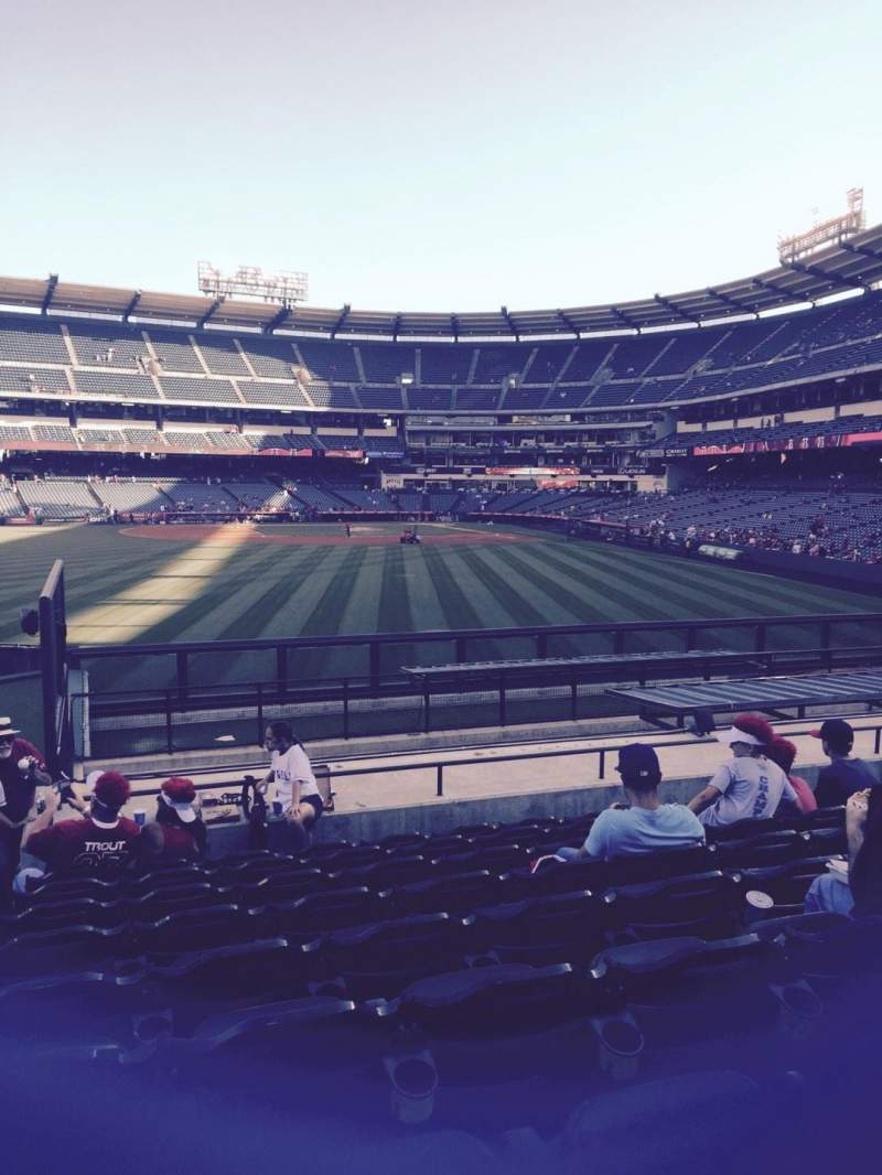 Seating view for Angel Stadium Section P258 Row r Seat 1