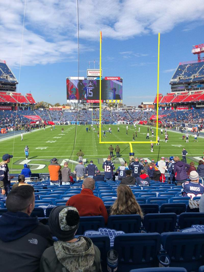 Seating view for Nissan Stadium Section 124 Row T