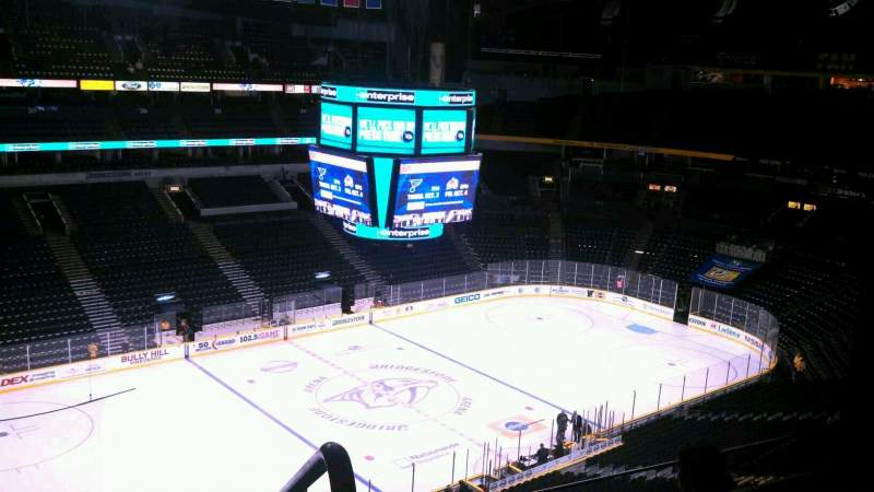 Seating view for Bridgestone Arena Section 306 Row G Seat 15