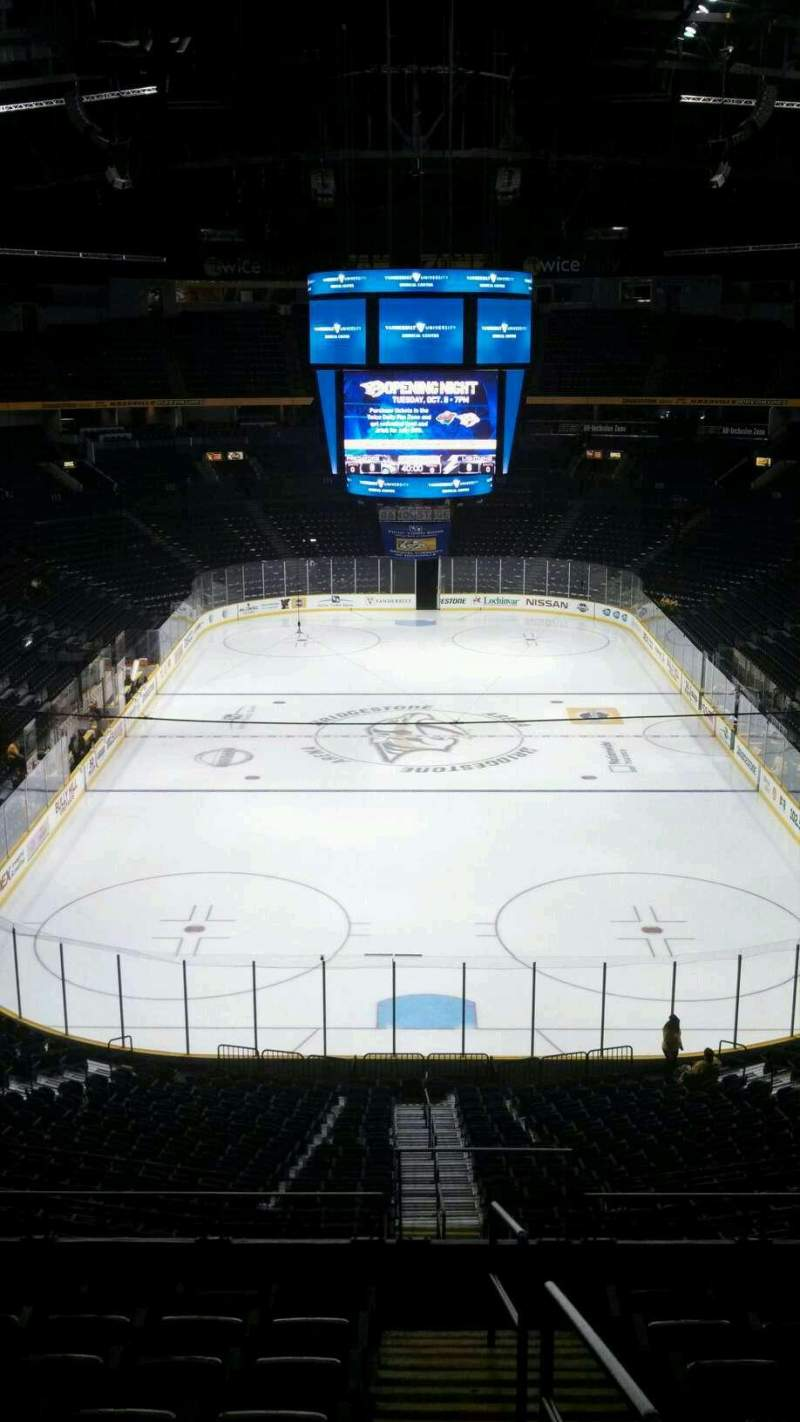 Seating view for Bridgestone Arena Section 224 Row G Seat 1