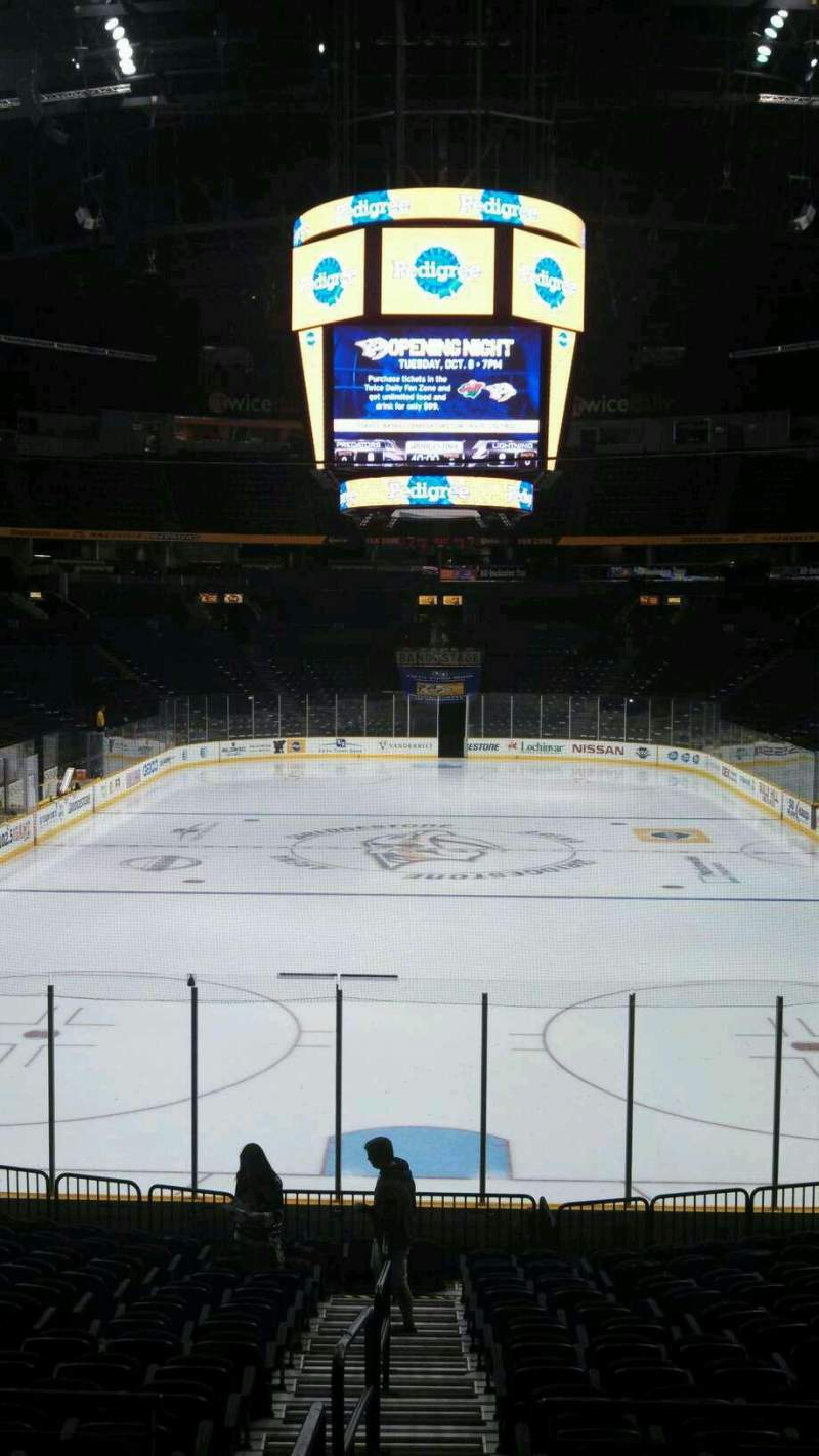Seating view for Bridgestone Arena Section 101 Row H Seat 14