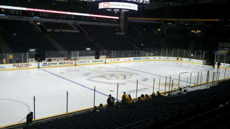 Seating view for Bridgestone Arena Section 104 Row G Seat 17