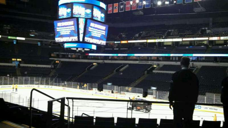 Seating view for Bridgestone Arena Section 108 Row H Seat 22