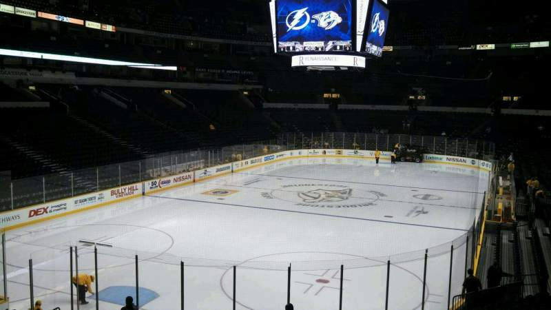 Seating view for Bridgestone Arena Section 112 Row G Seat 24