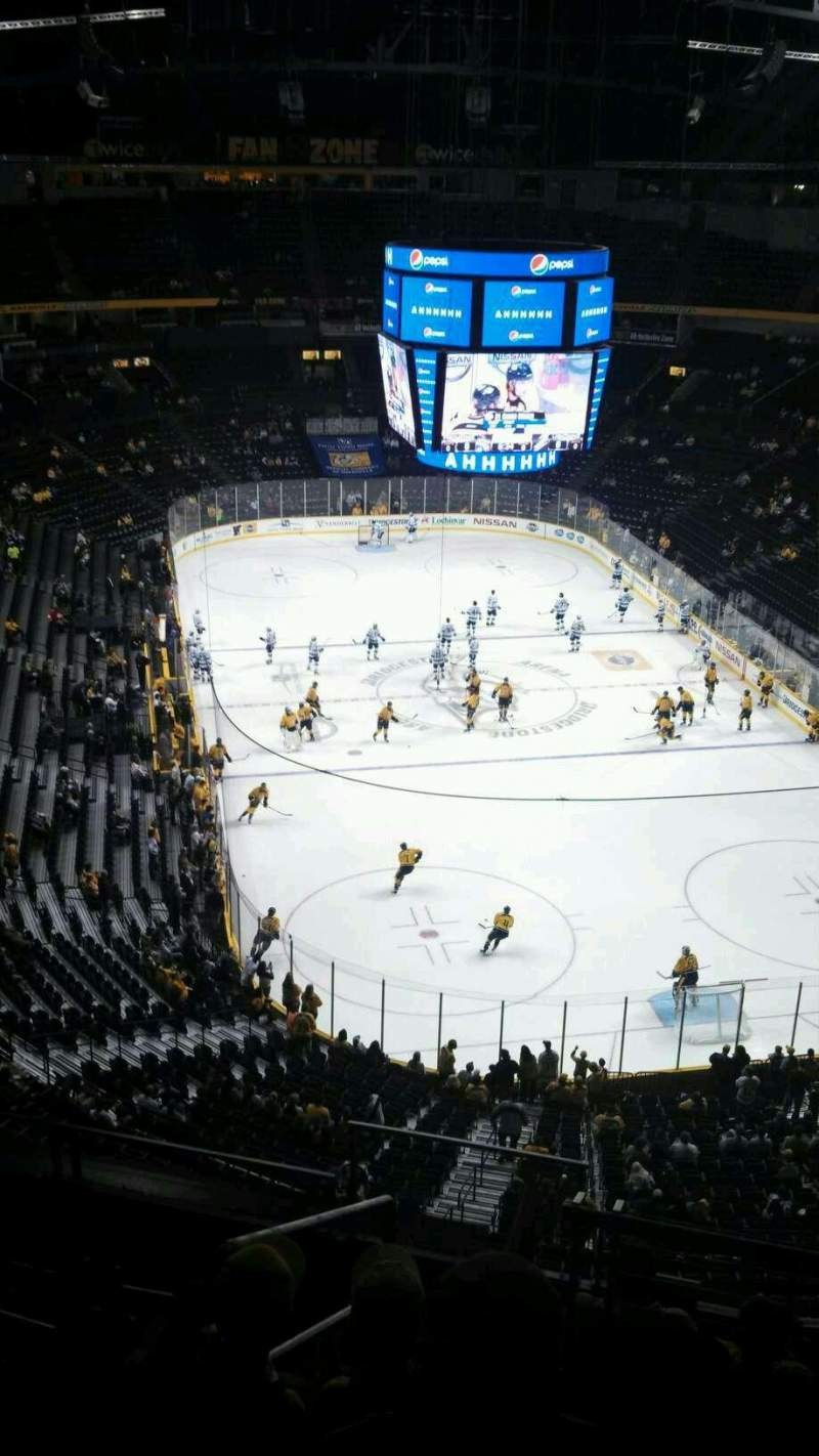 Seating view for Bridgestone Arena Section 332 Row H  Seat 13