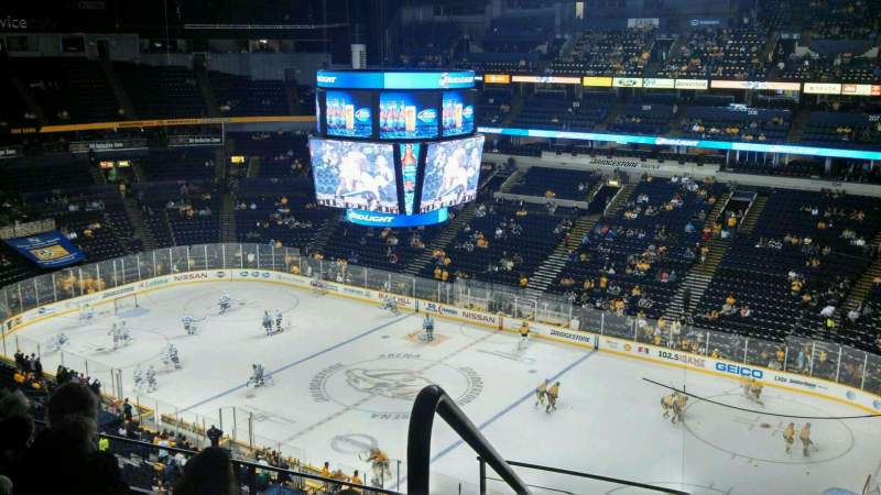 Seating view for Bridgestone Arena Section 331 Row G Seat 26