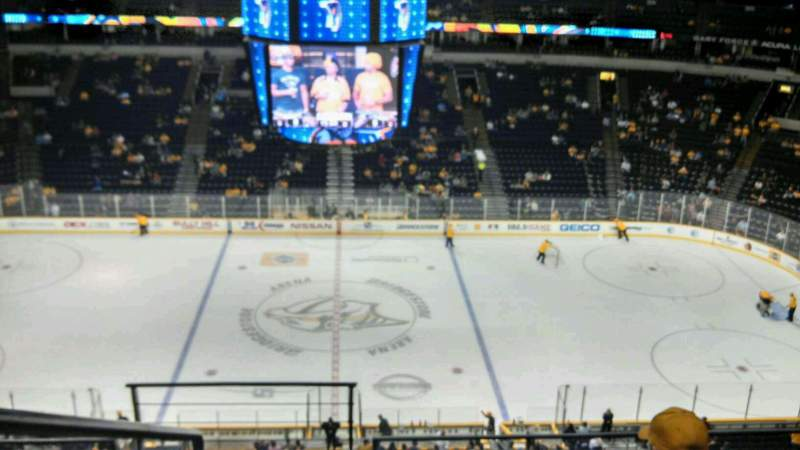 Seating view for Bridgestone Arena Section 326 Row D Seat 17