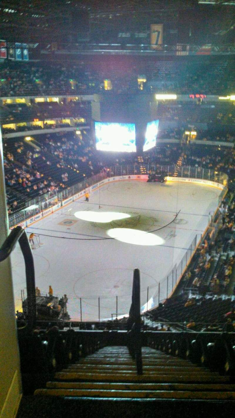 Seating view for Bridgestone Arena Section 321