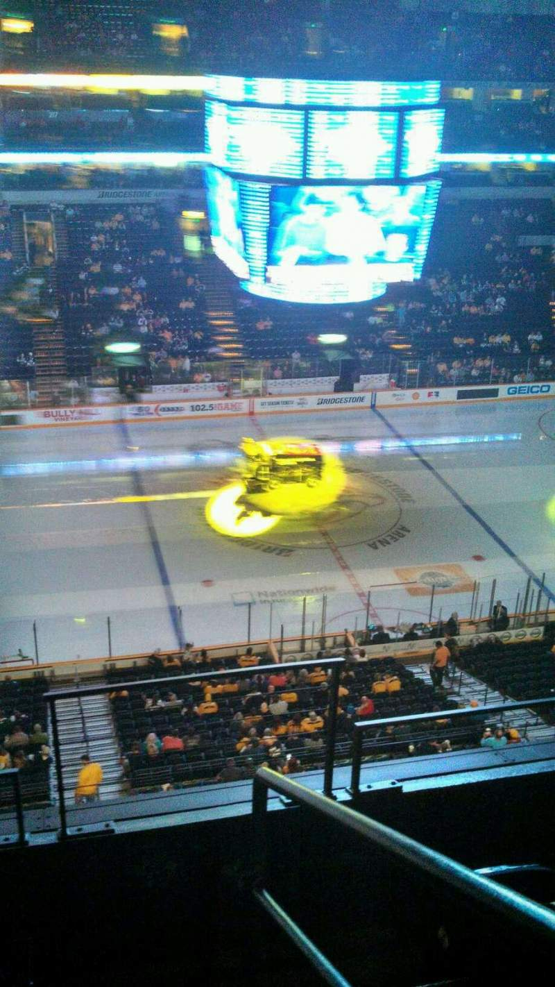 Seating view for Bridgestone Arena Section 324 Row H Seat 22