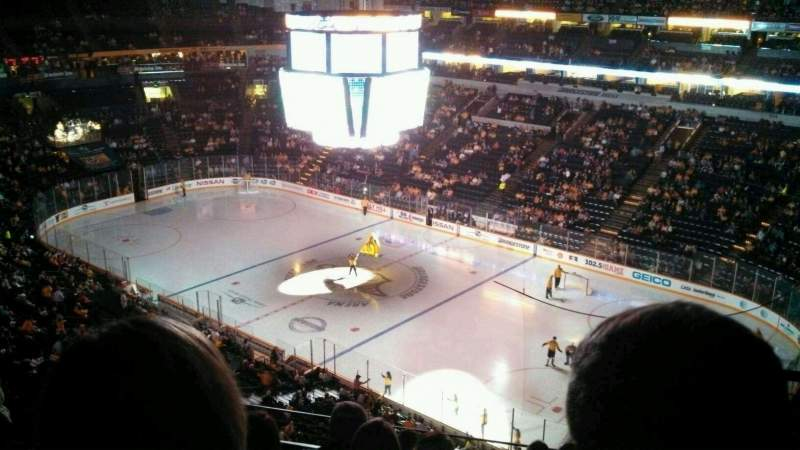 Seating view for Bridgestone Arena Section 331 Row G Seat 12