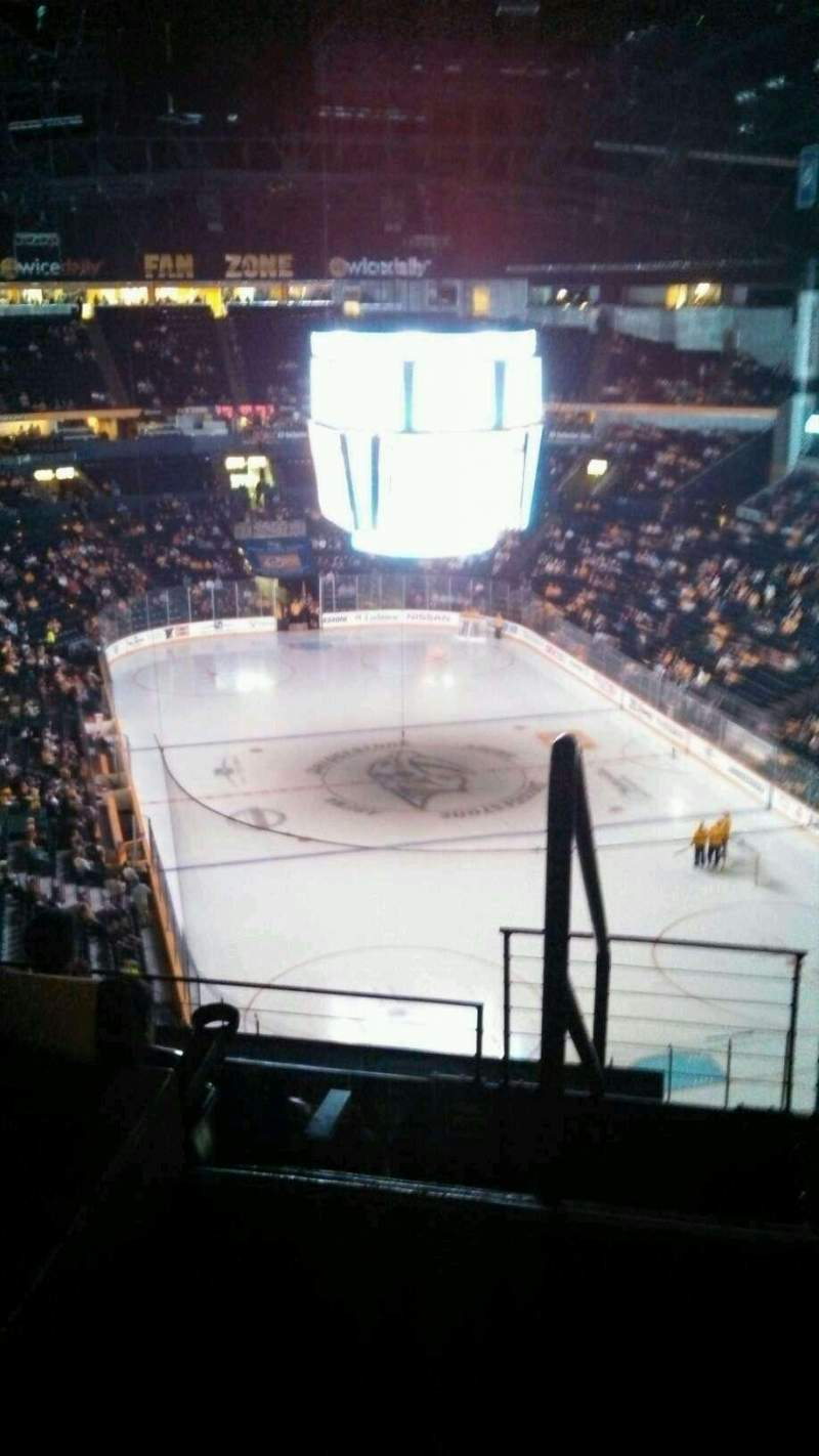 Seating view for Bridgestone Arena Section 313 Row G Seat 21