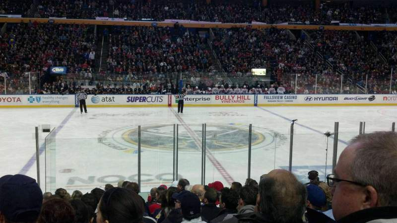 Seating view for KeyBank Center Section 117 Row 13 Seat 20