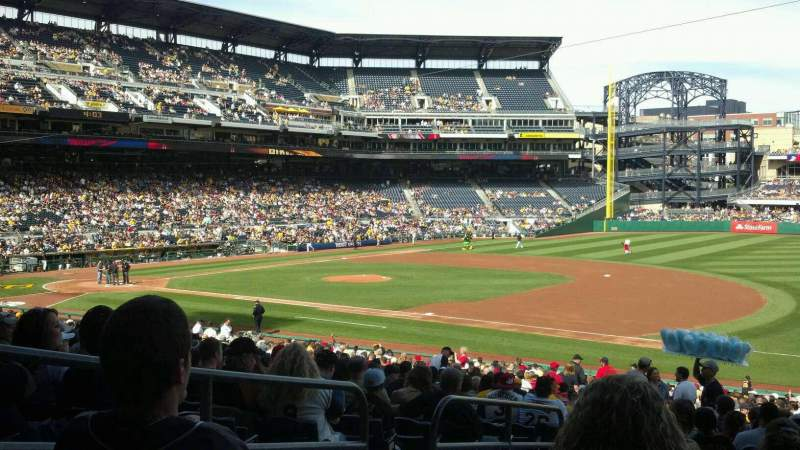 Seating view for PNC Park Section 107 Row Y Seat 18