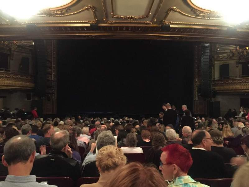 Seating view for Palace Theatre (Broadway) Section ORCH Row U Seat 109
