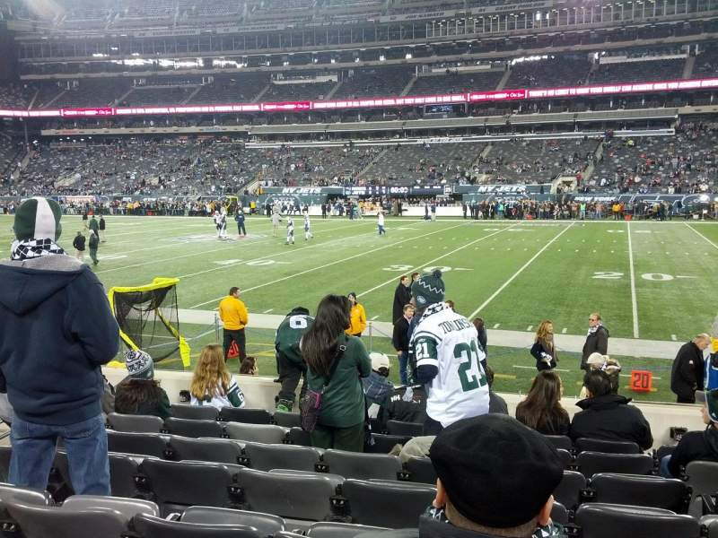 Seating view for Metlife Stadium Section 111A Row 8 Seat 7