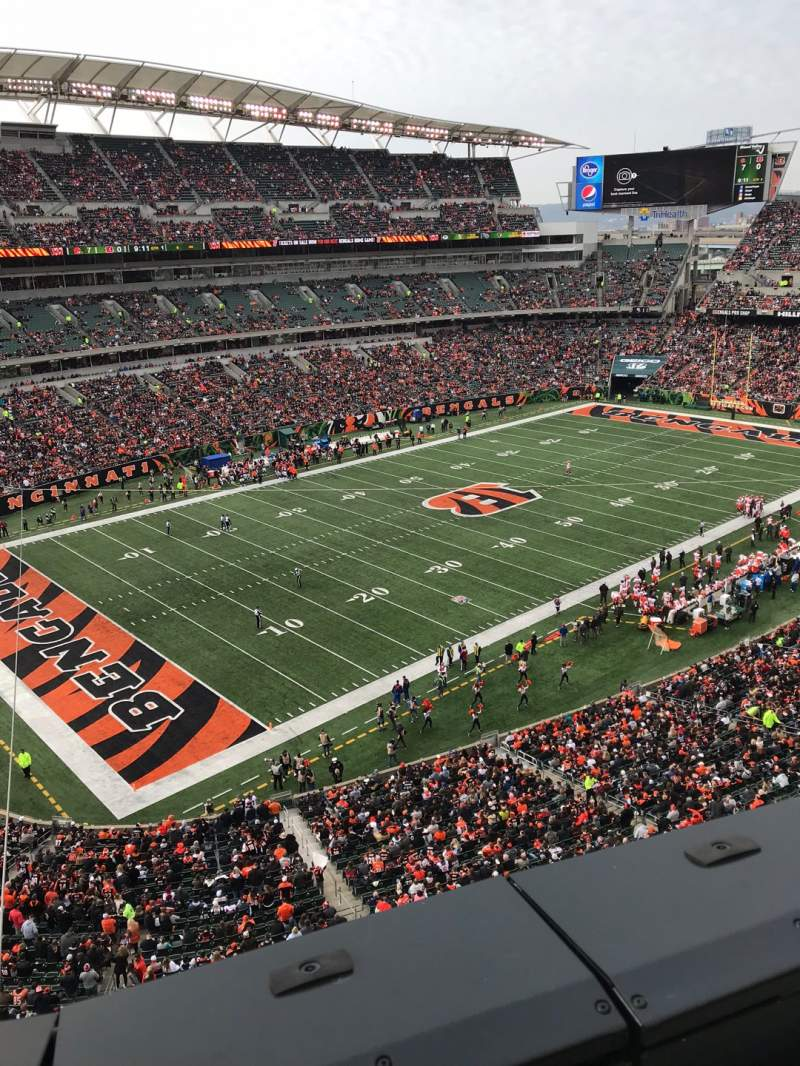Seating view for Paul Brown Stadium Section 347 Row 1 Seat 14
