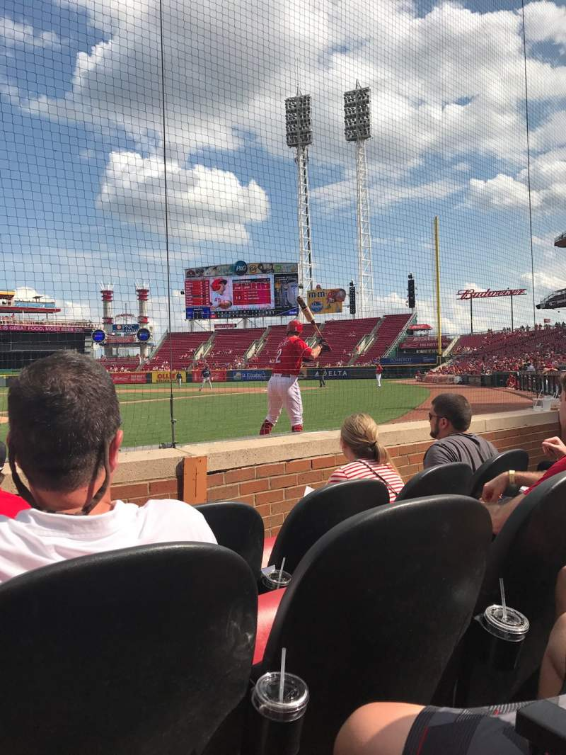 Seating view for Great American Ball Park Section 4 Row C Seat 5
