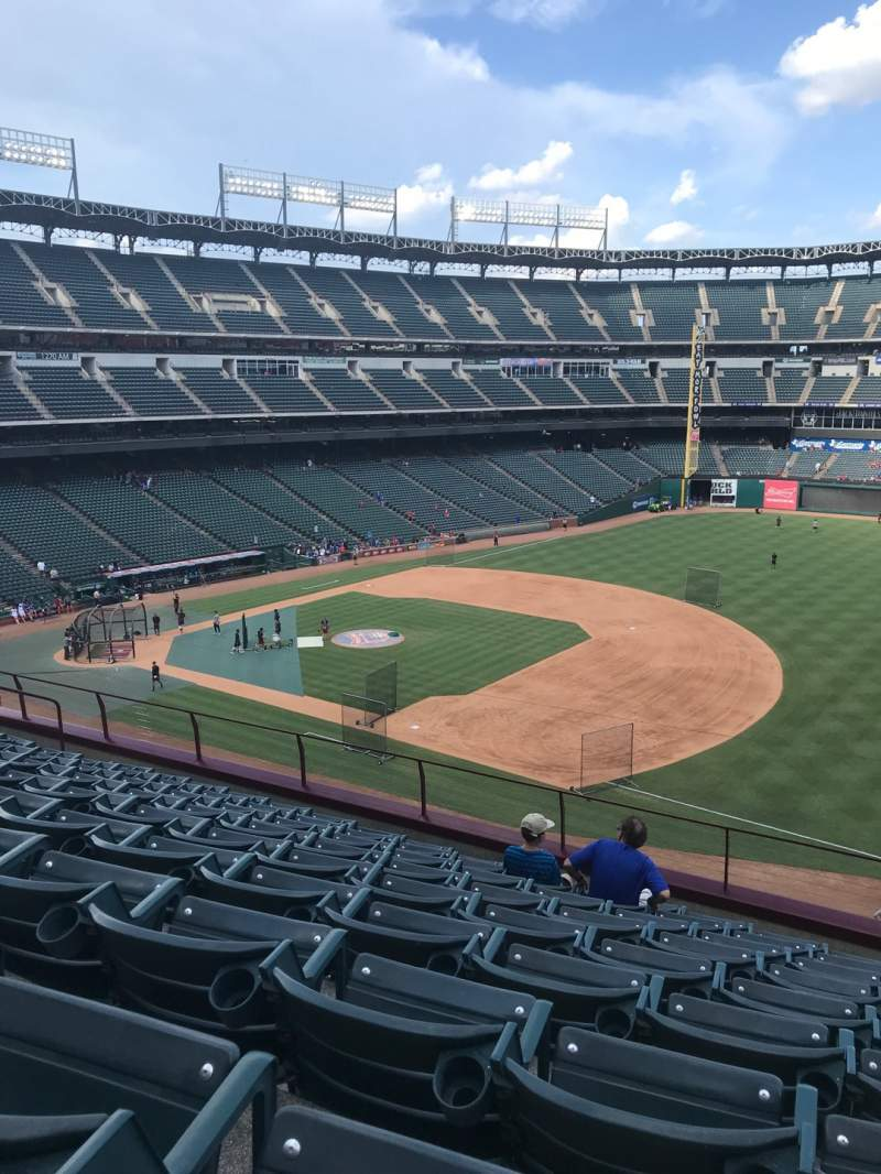 Seating view for Globe Life Park in Arlington Section 236 Row 9 Seat 16