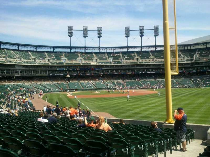 Seating view for Comerica Park Section 112 Row 34 Seat 10