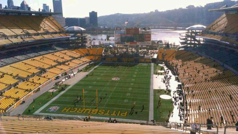 Seating view for Heinz Field Section 524 Row KK Seat 6