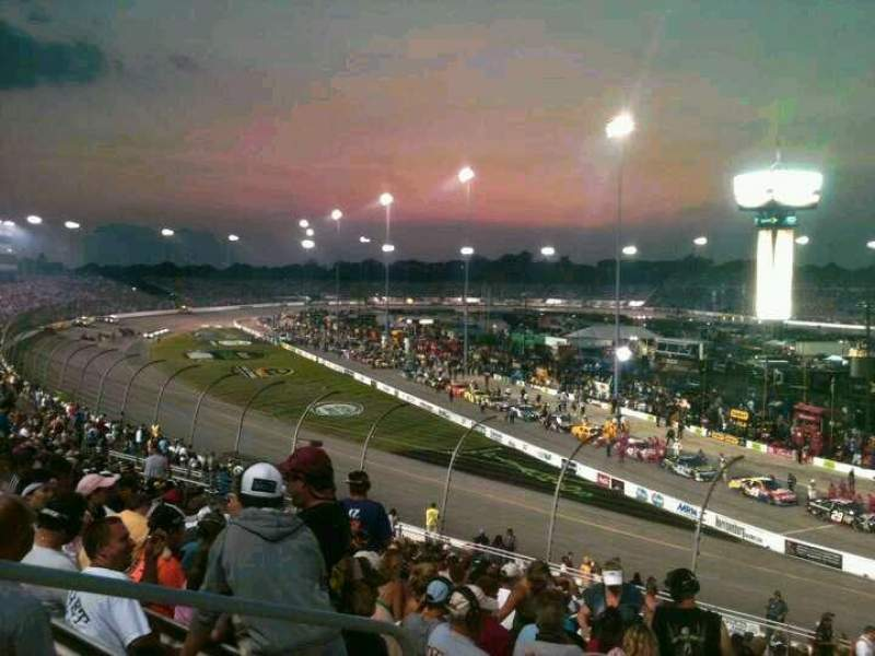 Seating view for Richmond International Raceway Section Veranda D Row 20 Seat 3