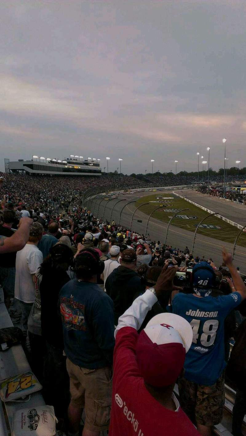 Seating view for Richmond International Raceway Section Veranda D Row 11 Seat 20