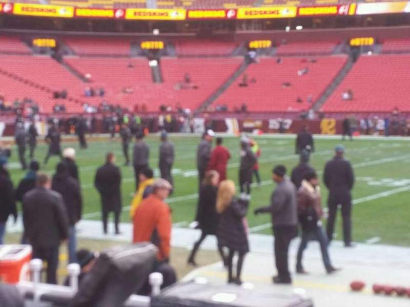 Seating view for FedEx Field Section 122 Row 1 Seat 17, 18, 19