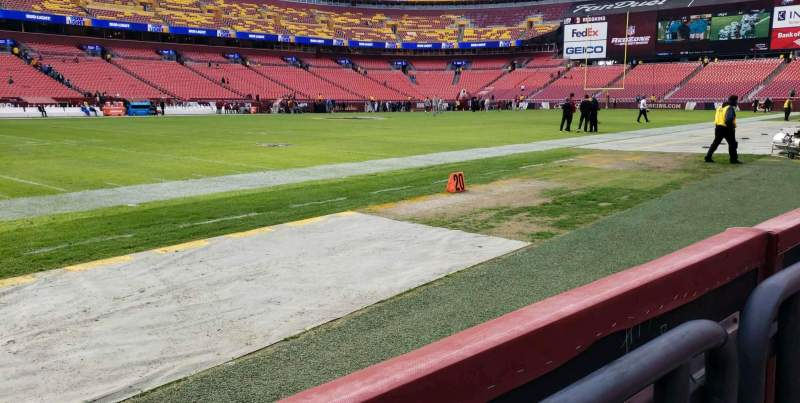 Seating view for FedEx Field Section 25 Row 1 Seat 5,6,7
