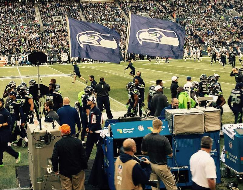 Seating view for CenturyLink Field Section 135 Row B Seat 7