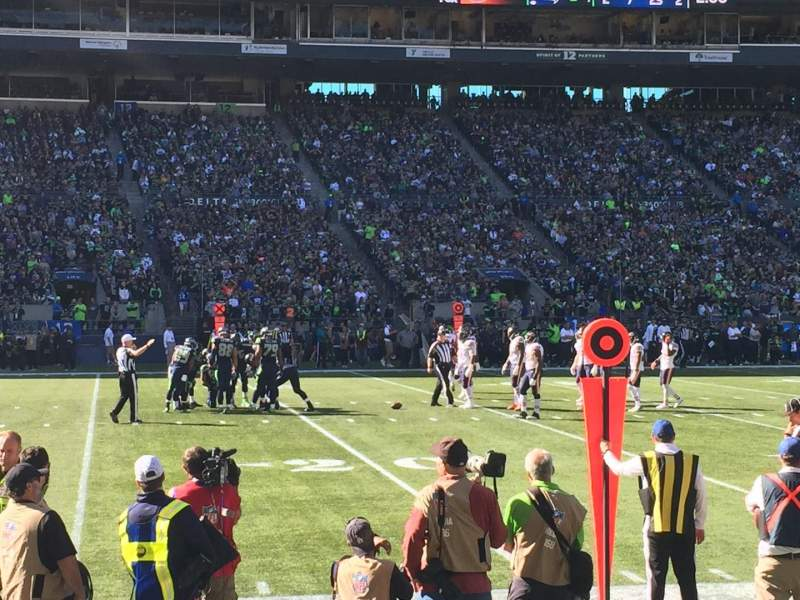 Seating view for CenturyLink Field Section 112 Row B Seat 6