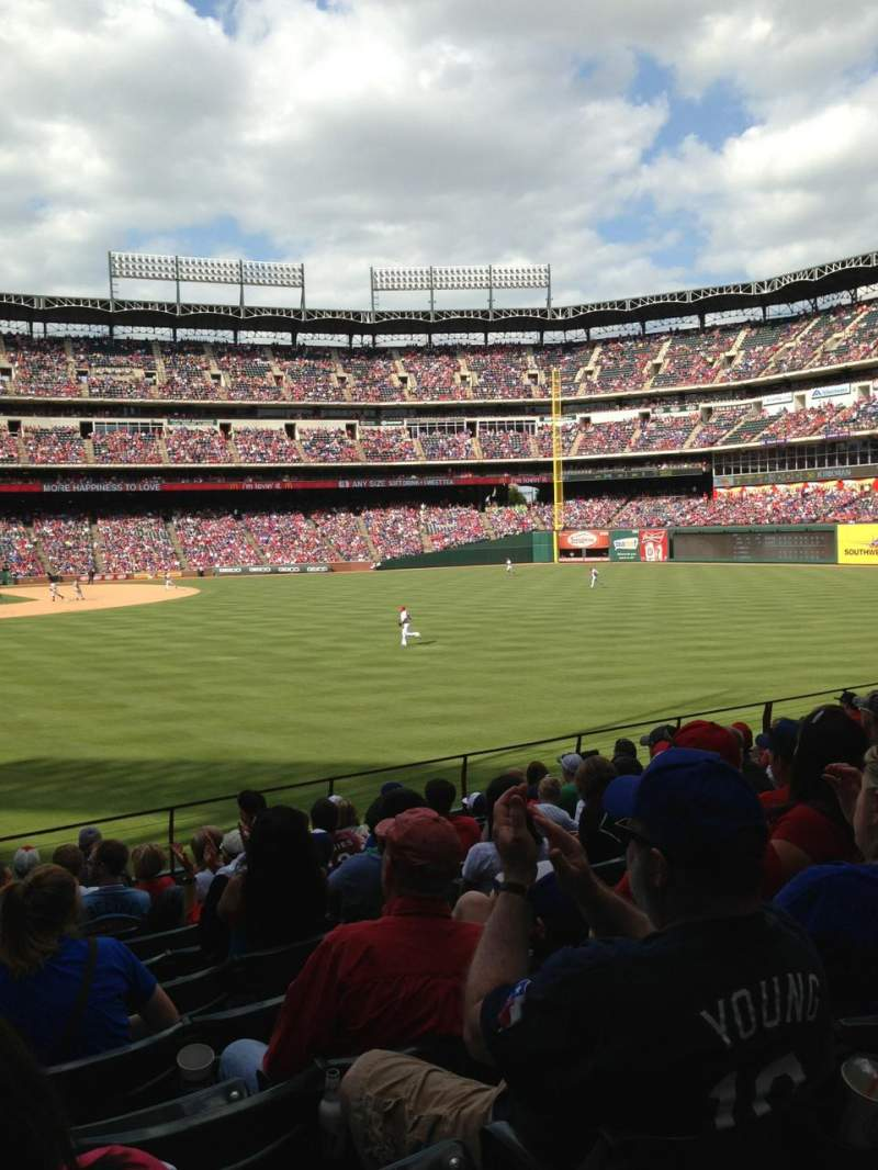 Seating view for Globe Life Park in Arlington Section 44 Row 11 Seat 10