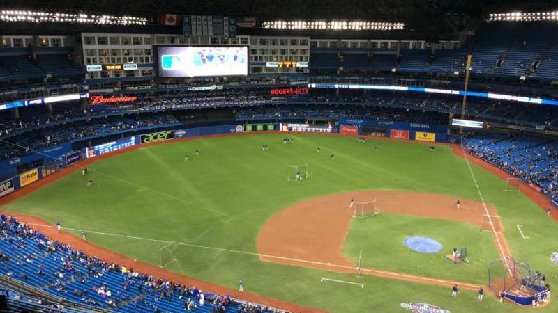 Seating view for Rogers Centre Section 529R Row 20 Seat 6