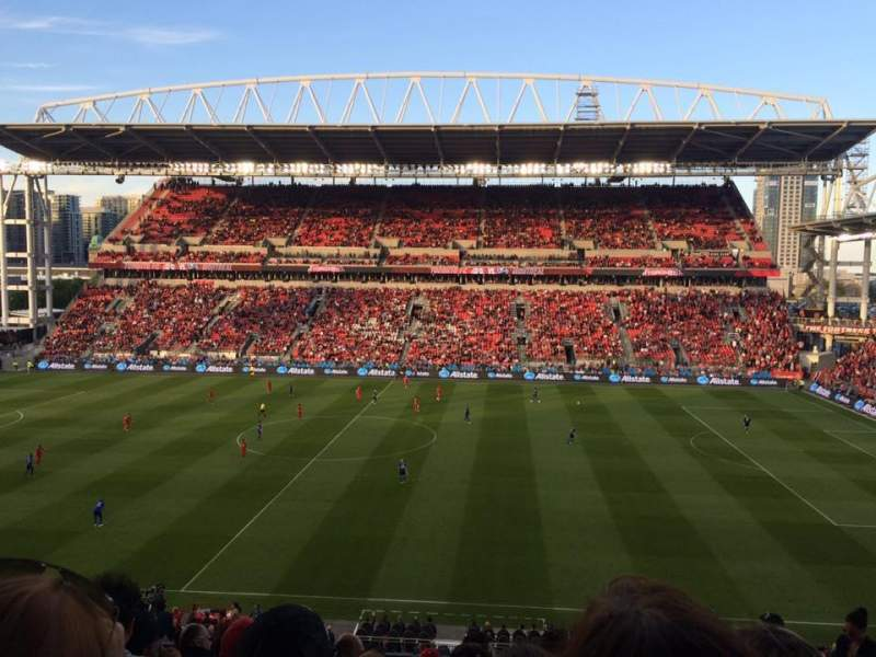 Seating view for BMO Field Section 222 Row 11 Seat 17