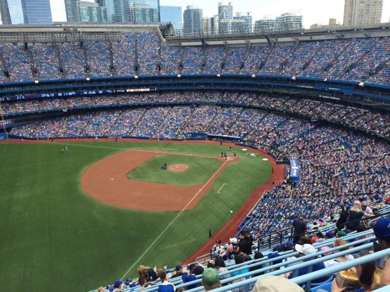 Seating view for Rogers Centre Section 537R Row 21 Seat 11