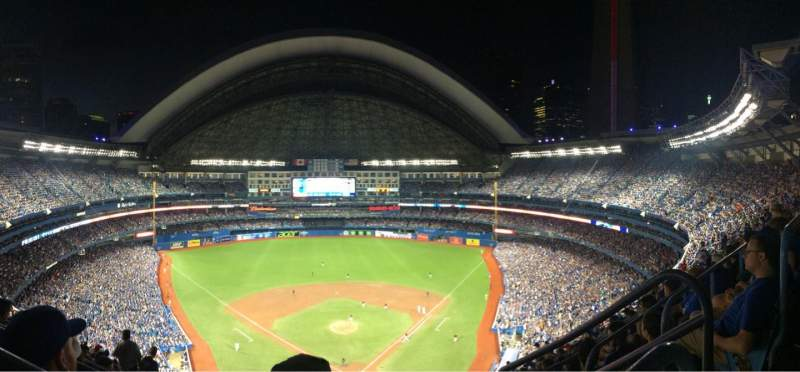Seating view for Rogers Centre Section 524BL Row 108 Seat 102