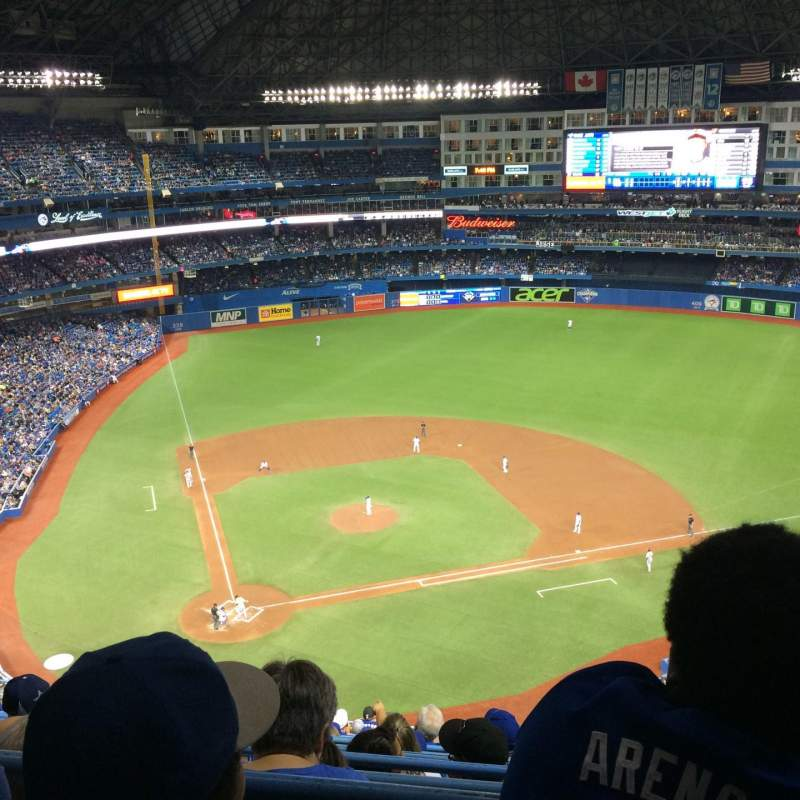 Seating view for Rogers Centre Section 521L Row 16 Seat 105