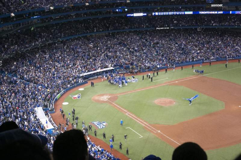 Seating view for Rogers Centre Section 513L Row 21 Seat 101