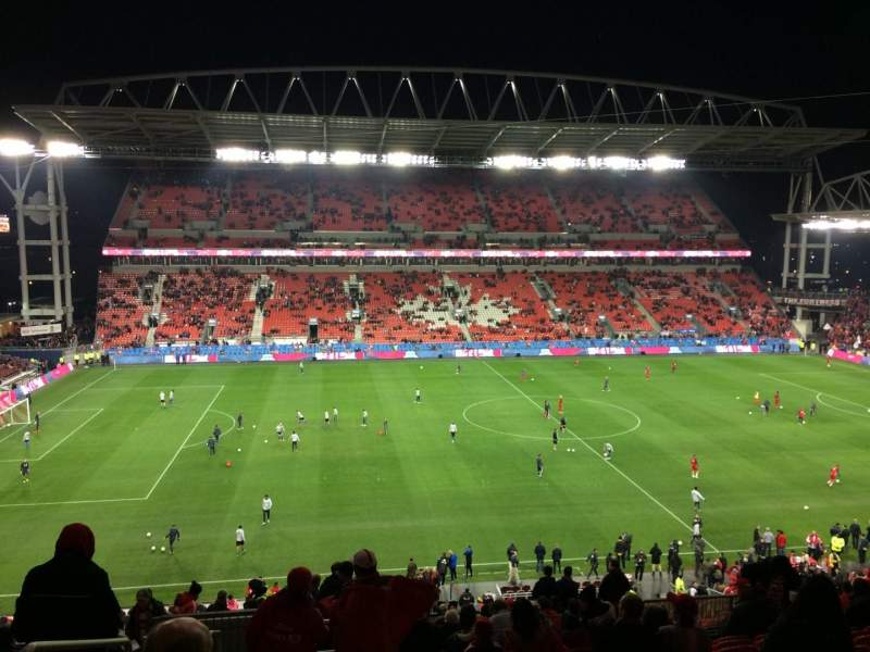 Seating view for BMO Field Section 224 Row 18 Seat 28
