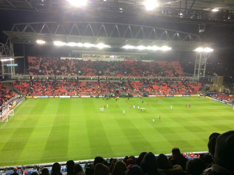 Seating view for BMO Field Section 209 Row 17 Seat 3