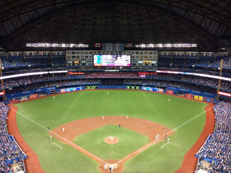 Seating view for Rogers Centre Section 524AL Row 22 Seat 110