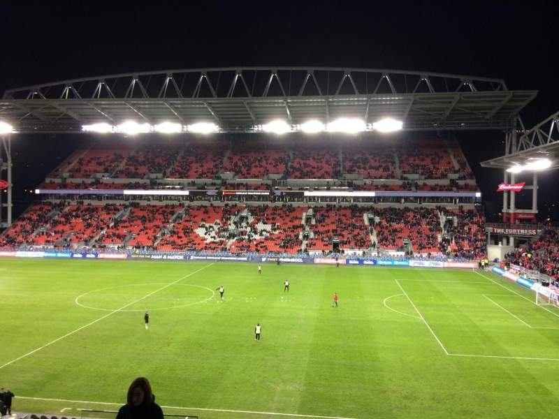 Seating view for BMO Field Section 221 Row 6 Seat 23