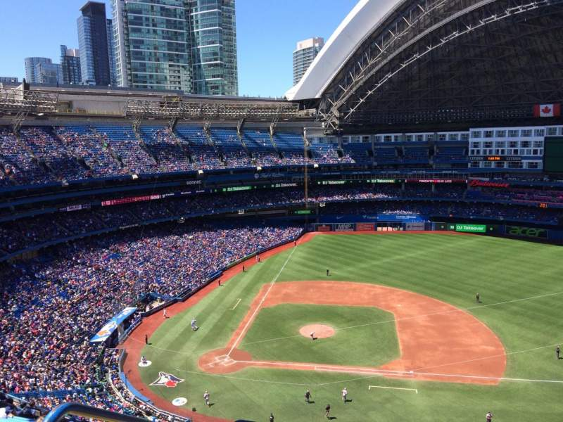 Seating view for Rogers Centre Section 519R Row 16 Seat 2